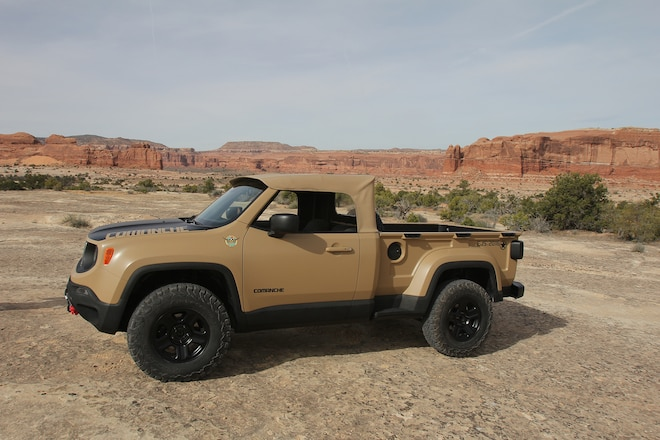 Hidden nods to Jeep heritage and history in Jeep Underground Jeep Comanche Renegade Concept - EJS 2016 in Moab Day 2 #EJS2016