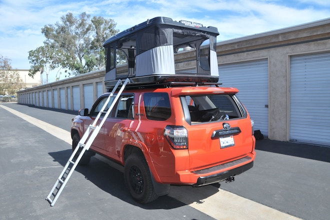 Baroud rooftop tent installation on 2015 Toyota 4Runner
