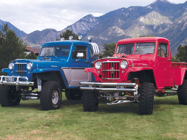 0601or 01 z+reader vehicles off road rides+blue and red willys
