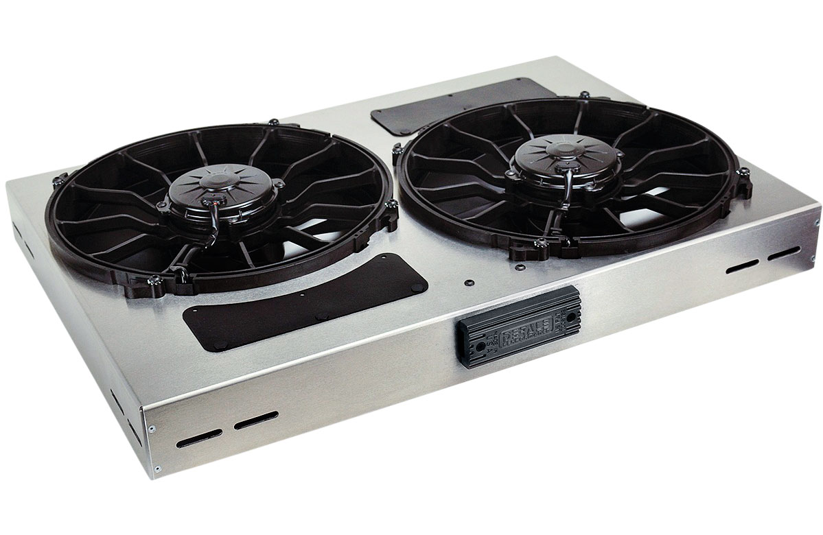 With the integrated patented PWM Fan Controller that utilizes Pulse Width Modulation to constantly adjust electric fan speeds from 0-100 percent, maintaining the optimal engine operating temperature. With built-in soft start technology, Derale has effectively introduced OEM reliability and function to the aftermarket. Made in the United States.