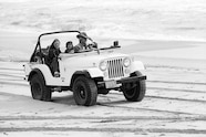 Ralph Lauren Jeep on beach