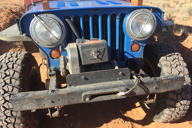 Warn Winch on Vintage Jeep Run - Moab EJS 2016 #EJS2016