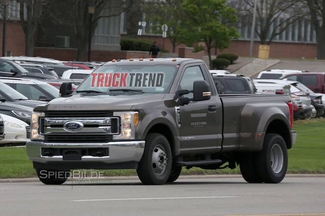 2017 Ford F-350 Single Cab Dually Struts Its Stuff in the Buff