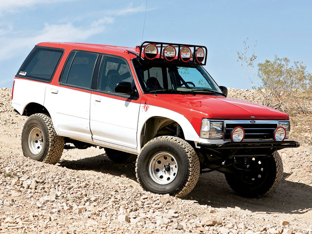 0808or 1993 12 z+ford explorer 1992 ford explorer ns off road+red white exterior front view