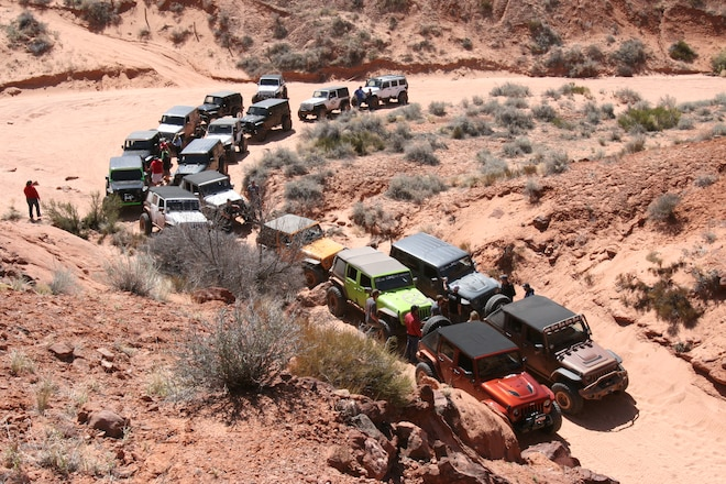 Trail Riding with the Nitto JK Experience crew during Easter Jeep Safari 2015