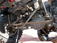A bent track bar can stop the fun pretty quick  Most heavy-duty