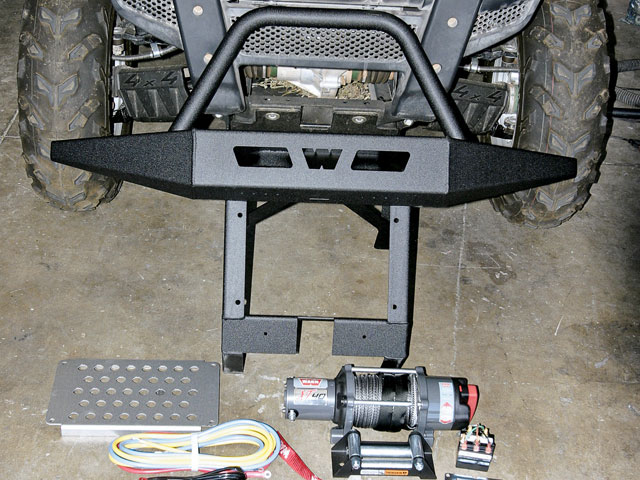 0810or 12 z+warn bumper warn winch yamaha rhino upgrade install+warn kit