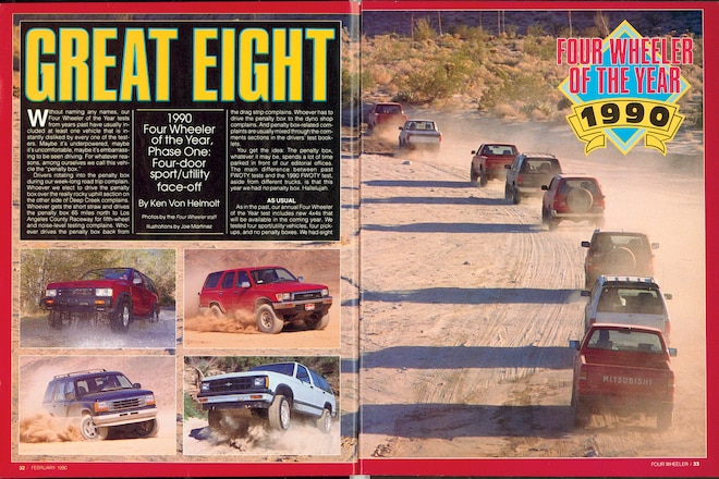 Trail's End: 1990 Four Wheeler Of The Year And The Modern SUV Transformation