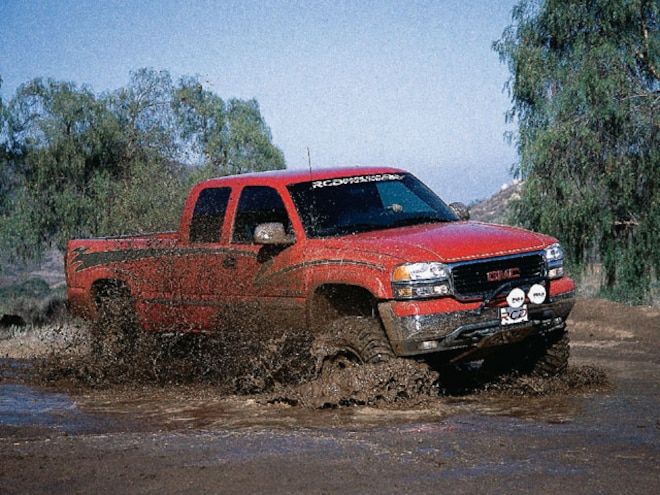 2000 GMC 2500 4x4 Crew Cab with Baja Claw Tires - Dual Sport - Off-Road
