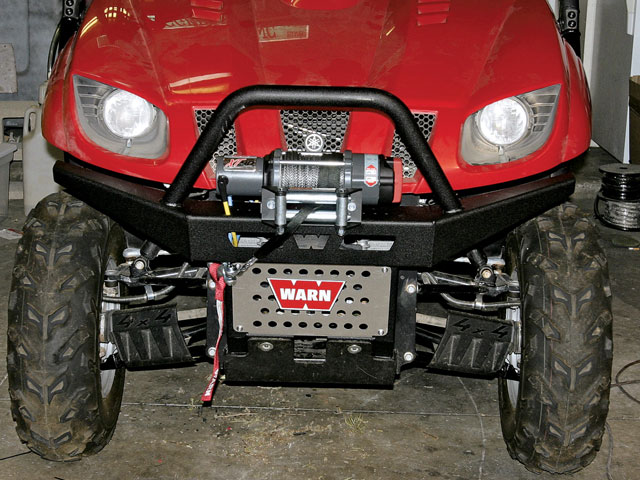 0810or 01 z+warn bumper warn winch yamaha rhino upgrade install+front view