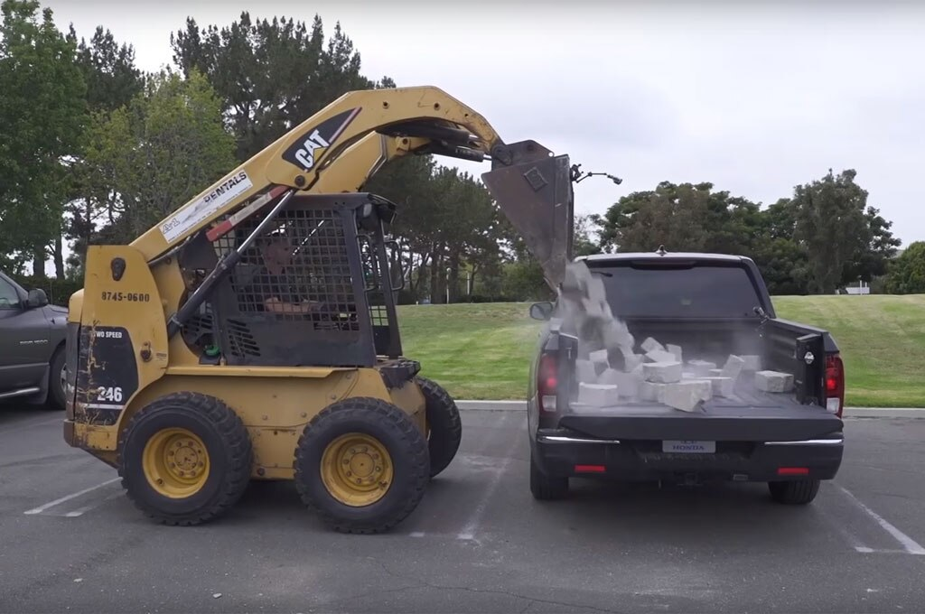 2017 honda ridgeline bed test brick drop