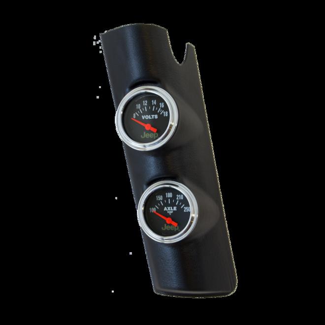 Auto Meter Gauge Pillar Pods for the Jeep Wrangler JK
