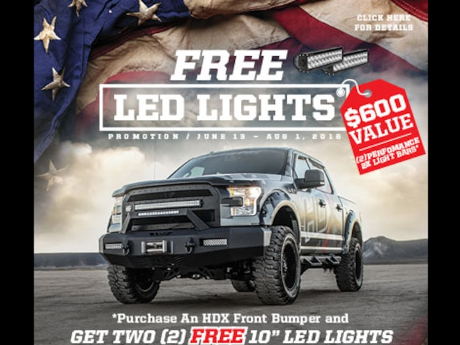 Westin is Giving Away LED Lights With Their New HDX Bumpers