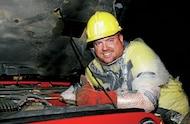 pete trasborg in safety gear