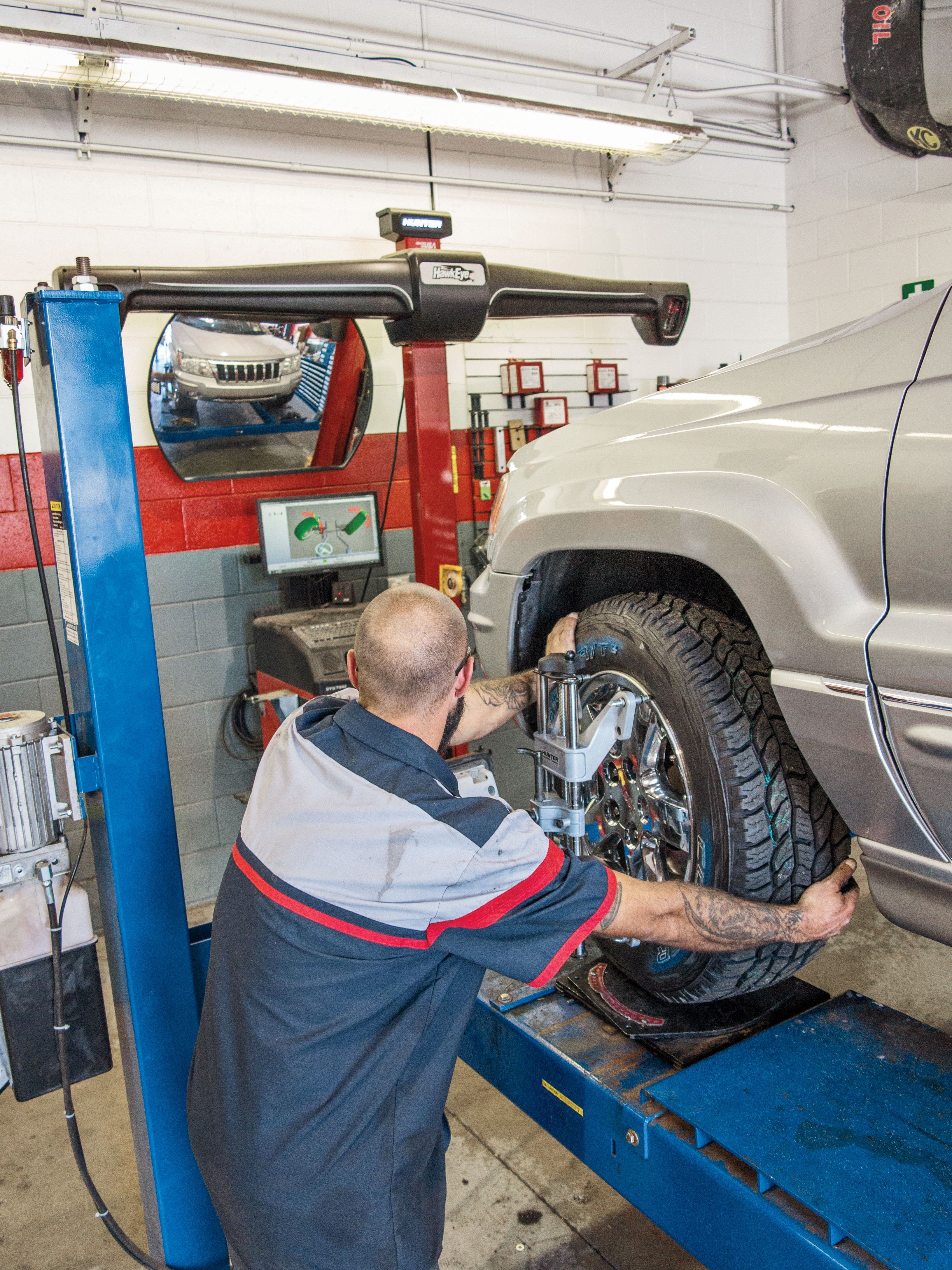 While I was at 4Wheel Parts getting the tires mounted, I also had them perform a four-wheel alignment. This is a good idea after you do any suspension work, and we did not want to take any chances of premature wear our brand-new Cooper tires.