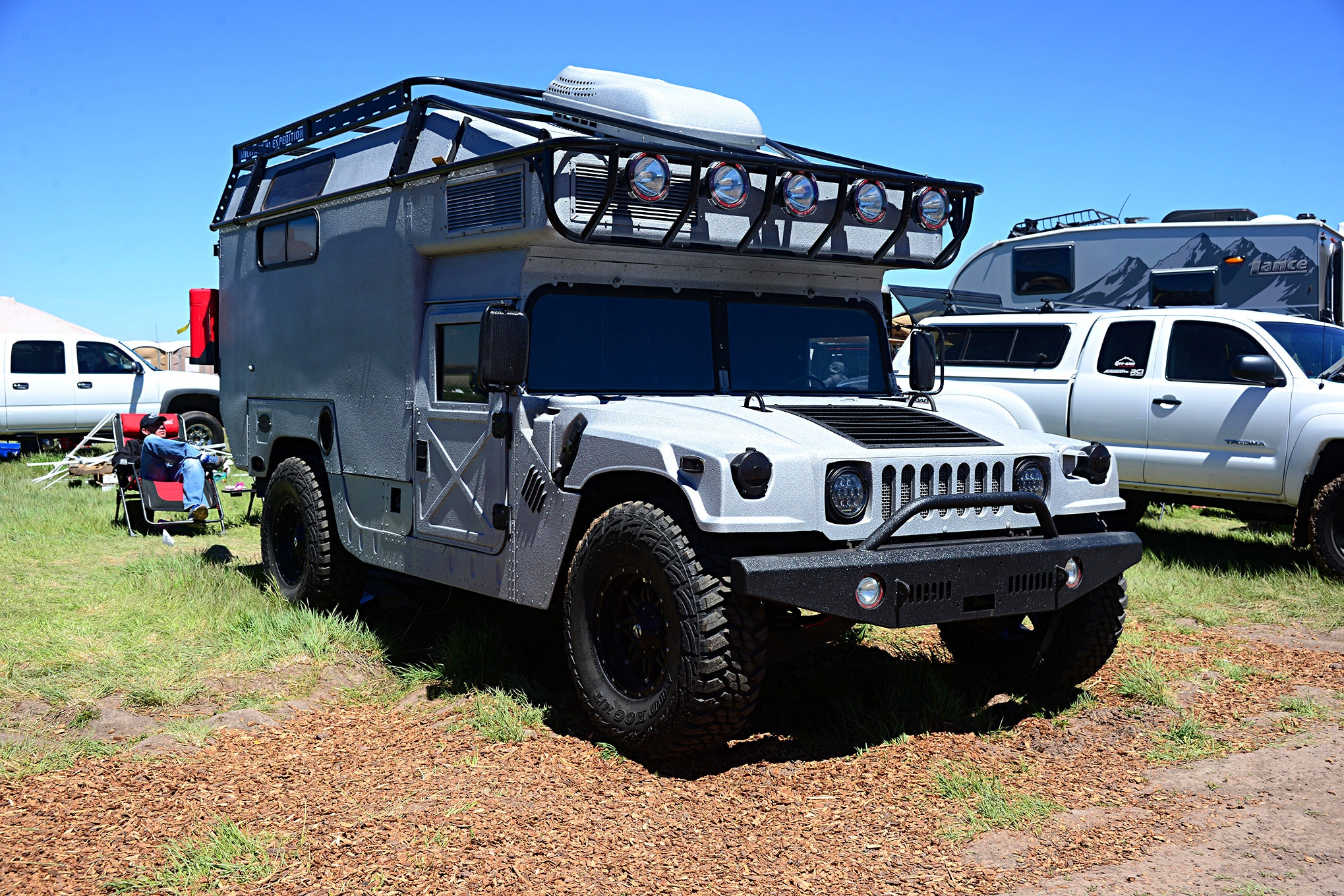 018 2016 Overland Expo 4x4 Vehicles Camping Flagstaff Mormon Lake Arizona Hmmwv Hummer Military H1 Camper Photo 107157358