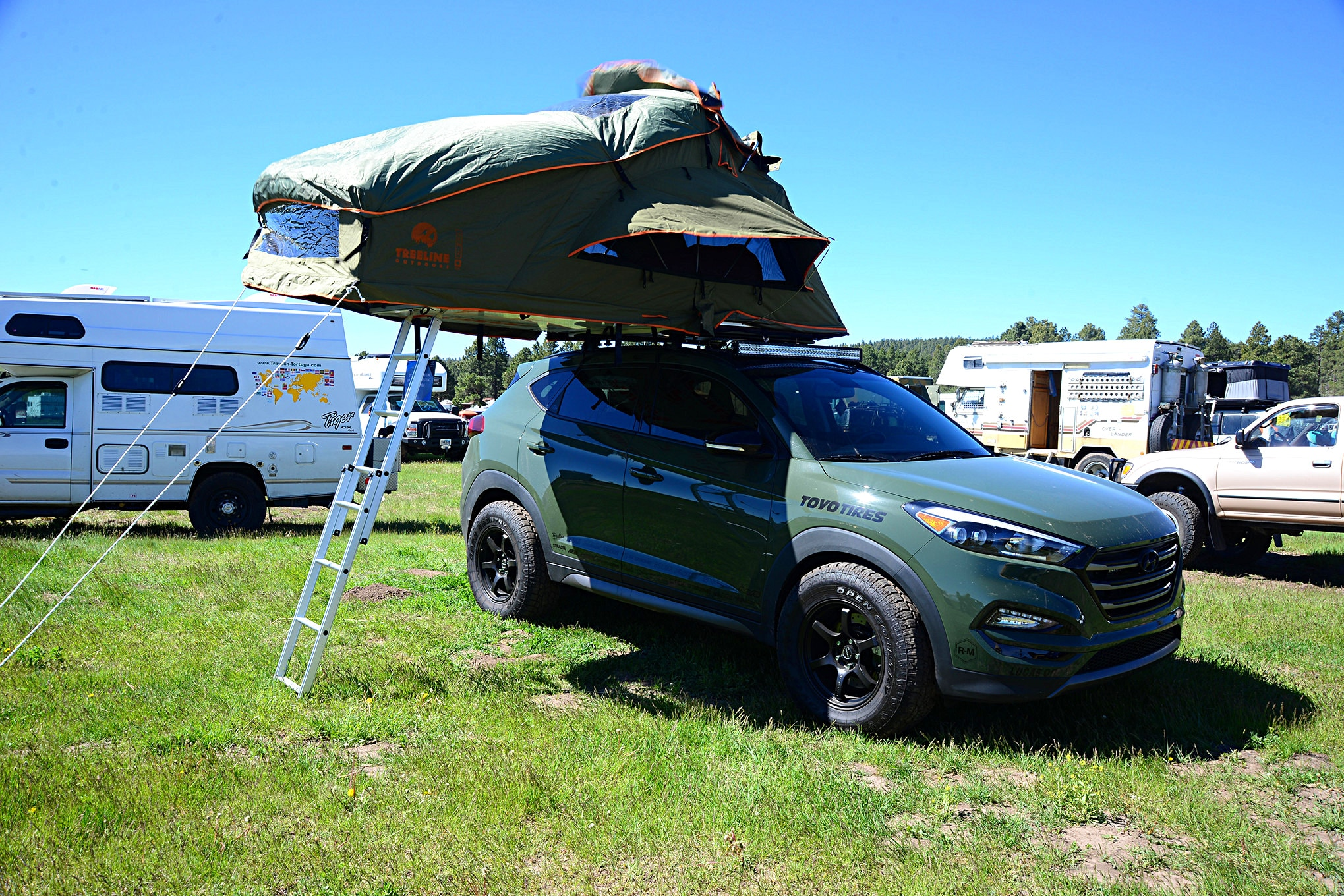 004 2016 Overland Expo 4x4 Vehicles Camping Flagstaff Mormon Lake Arizona Hyundai Santa Fe Sport Photo 107157388
