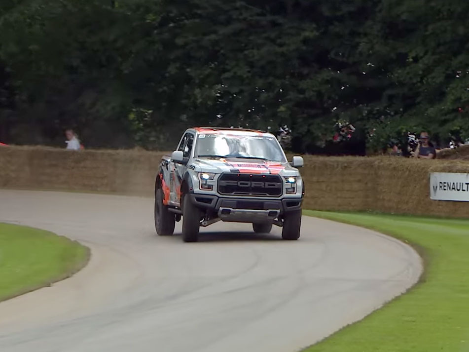 2017 Ford Raptor Tackles Goodwood Festival of Speed - Video