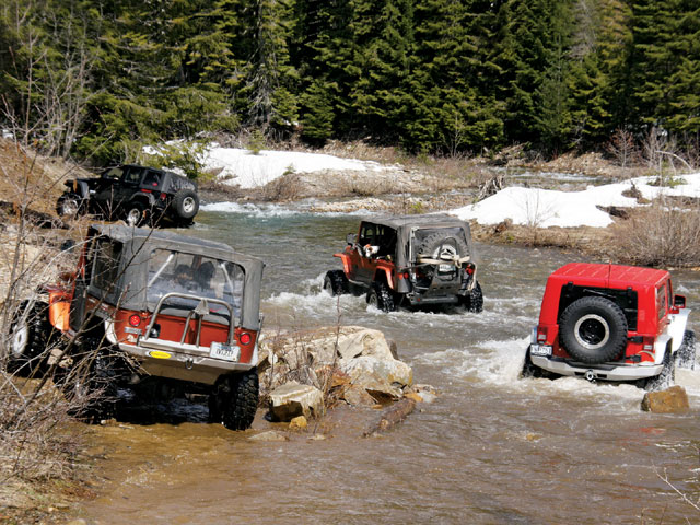 0812 4wd 08 z+2008 idaho trail tour part two+creek crossing