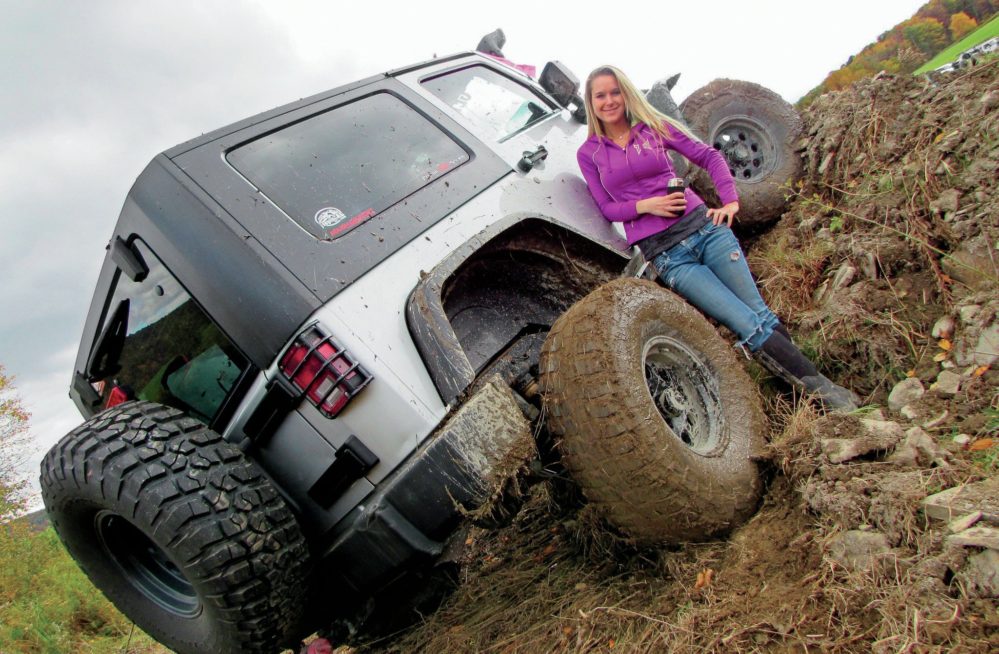 """Gearhead Girl """"I have a few good friends with garages and lifts, and I'm always out there getting my hands dirty."""" Trisha's proficient in tire swapping and in changing oil, brakes, plugs/wires, filters, and tranny fluid/cooler, and in general maintenance. """"I love being a capable woman!"""""""