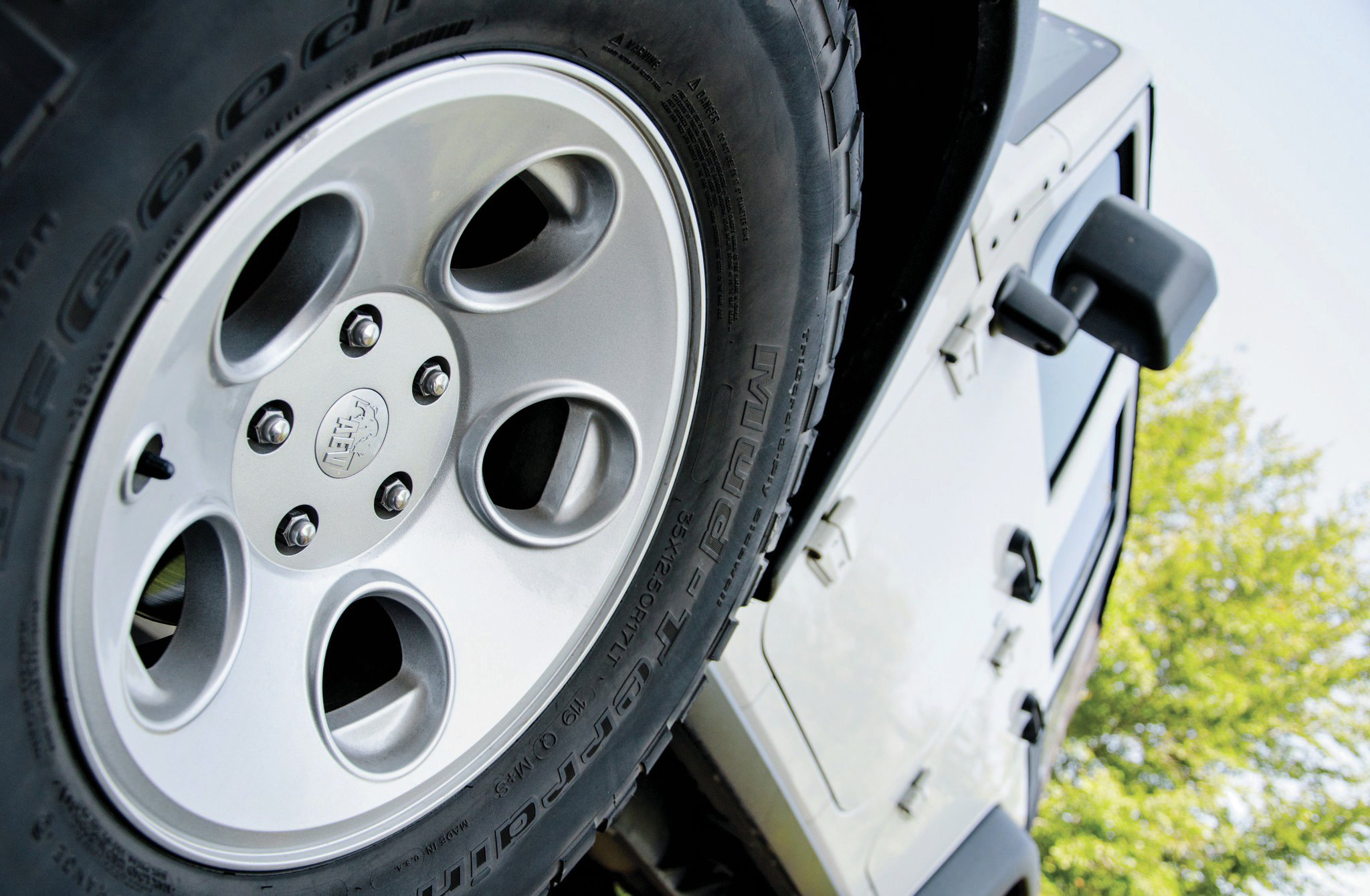 AEV has a line of cast-aluminum wheels with a clean, understated appearance that looks like a factory offering and a comparable weight to stock JK wheels. It designed the Savegre wheel specifically for the JK Wrangler, with the optimal balance of tire clearance, scrub radius, and handling.