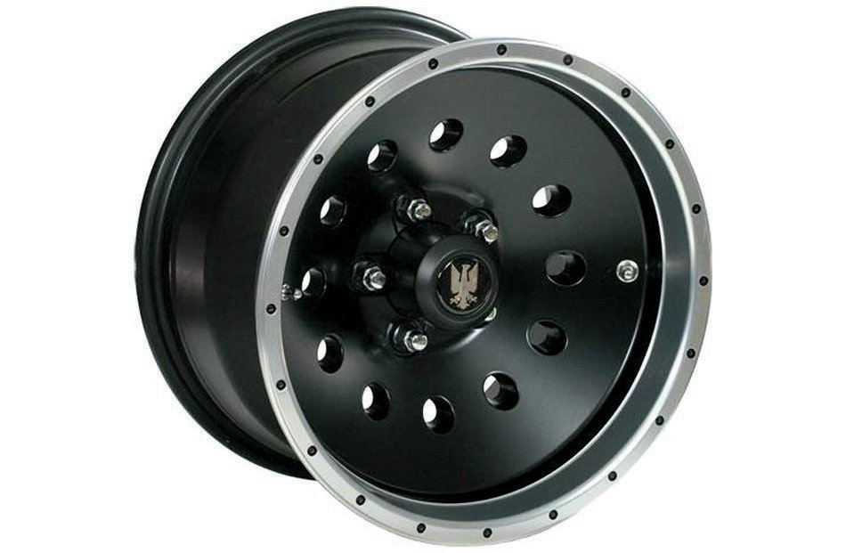 The Interco Birddog is a cast-aluminum wheel that is not a traditional beadlock but has many off-road specific features to retain the tire bead at low pressures. Two valve holes are provided for rapid inflation or deflation as well as ease of accessibility, and both are placed safely from harm's way.