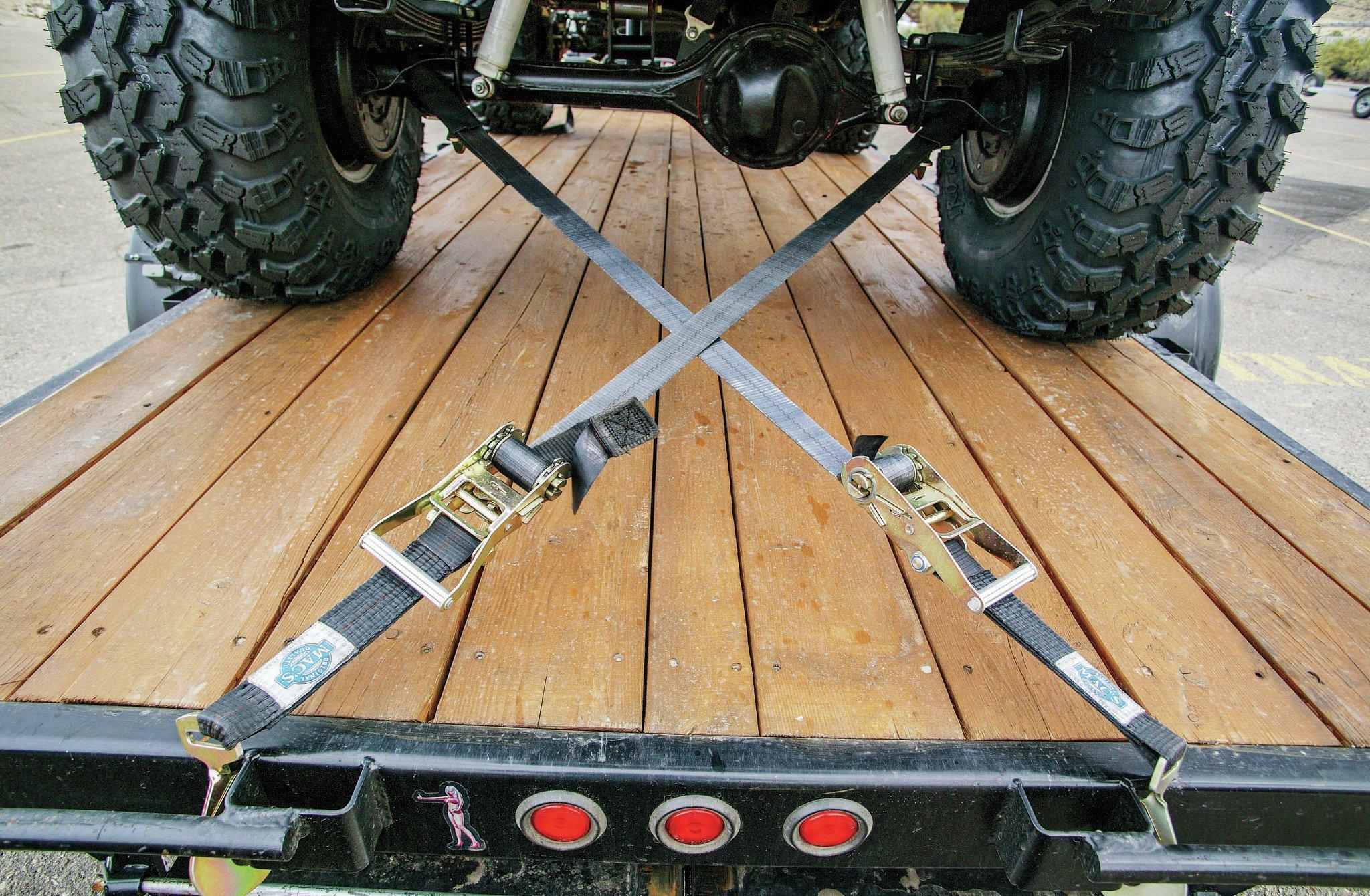 trailer straps in x pattern