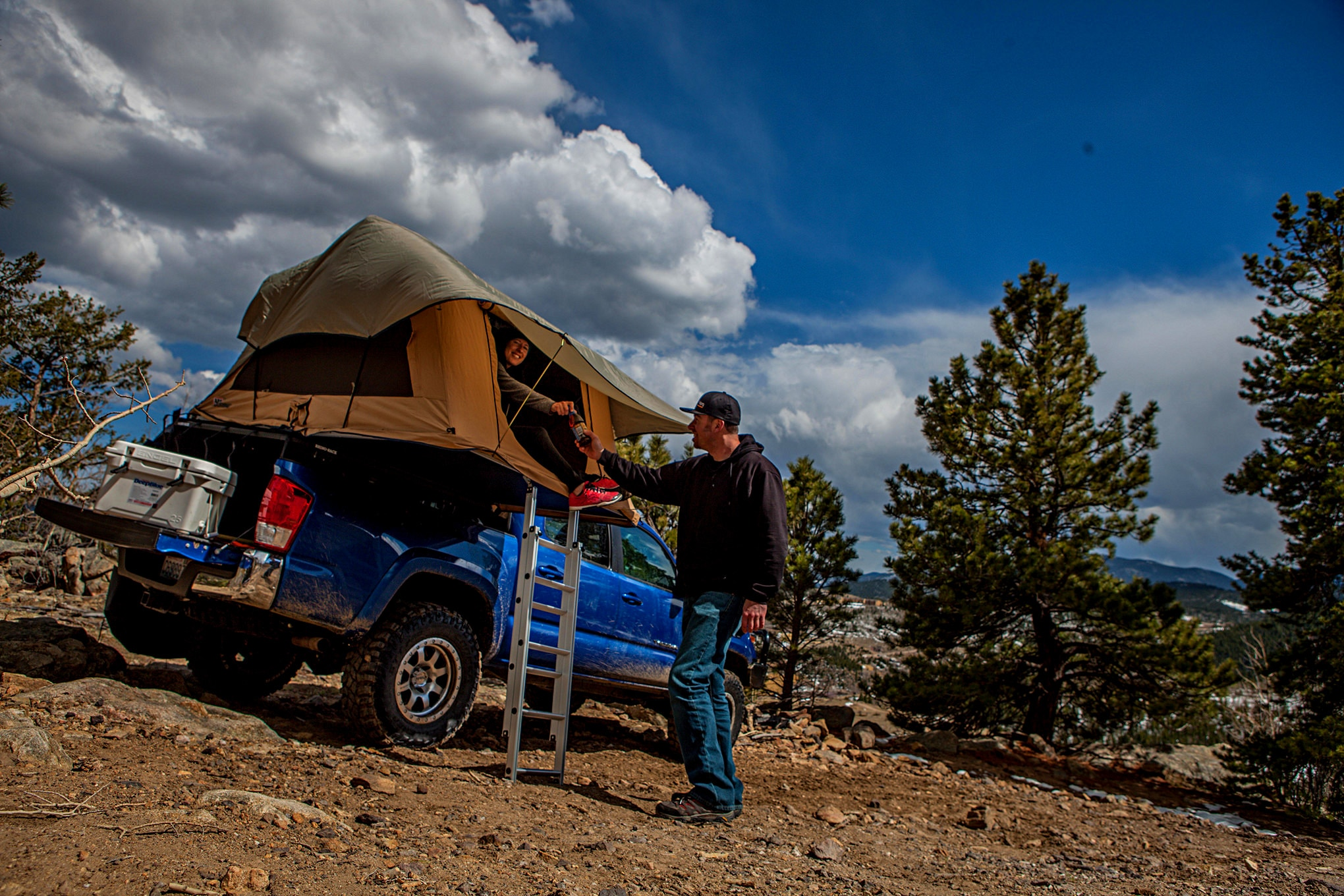 017 arb tacoma roof top tent open