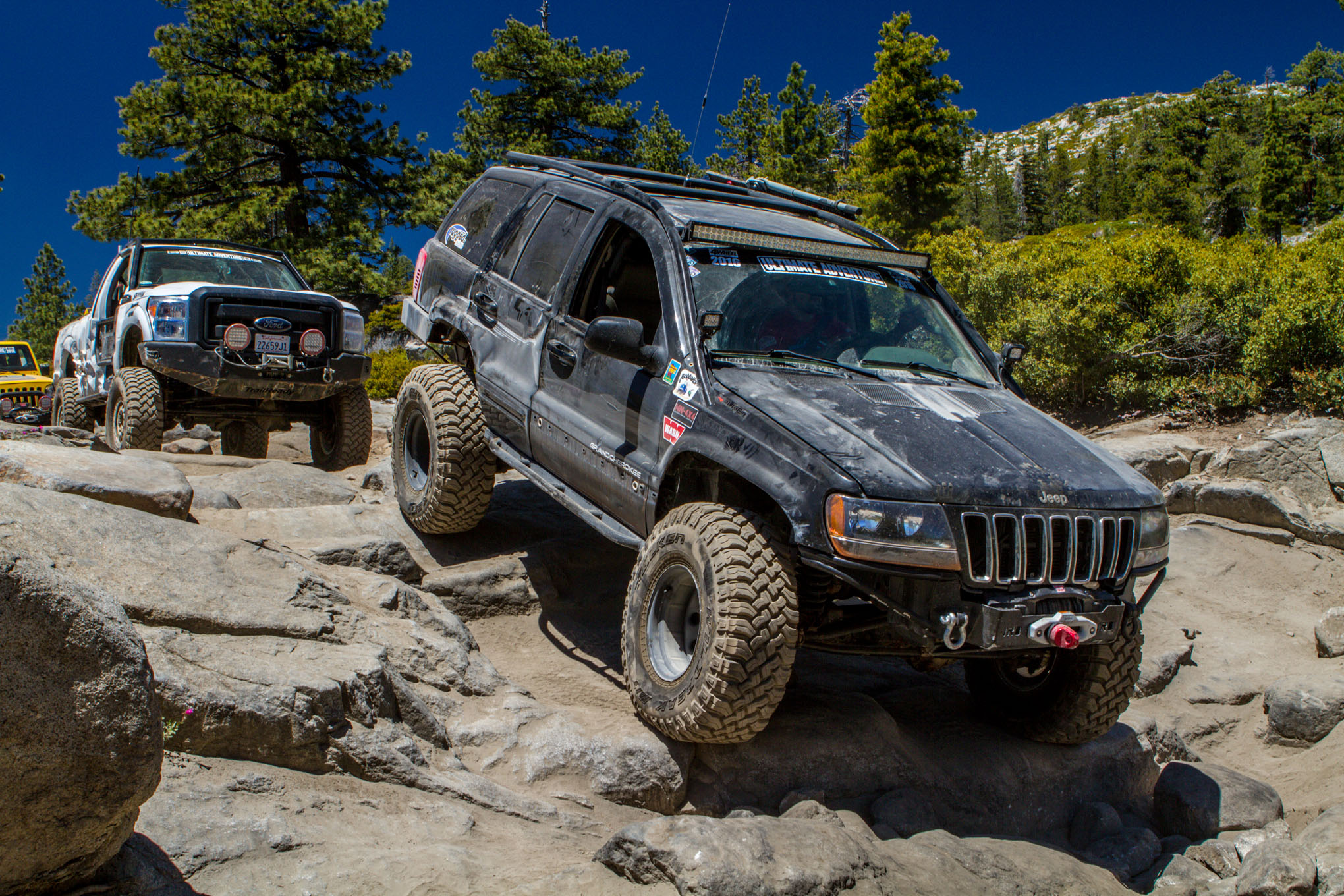 003 2016 Ultimate Adventure vehicles and people