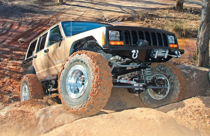 Wheeling our 1999 Jeep Cherokee Project Disposable Hero