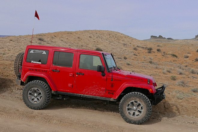 Red Hot Jeep JK On A Rush