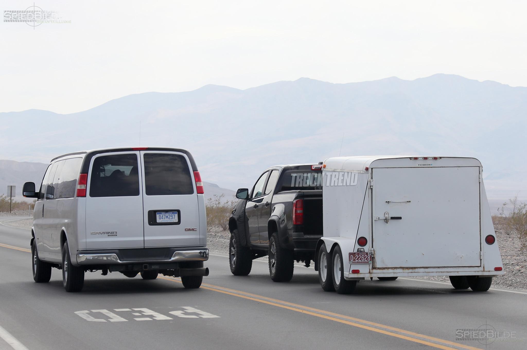 2018 chevrolet colorad zr2 towing with van