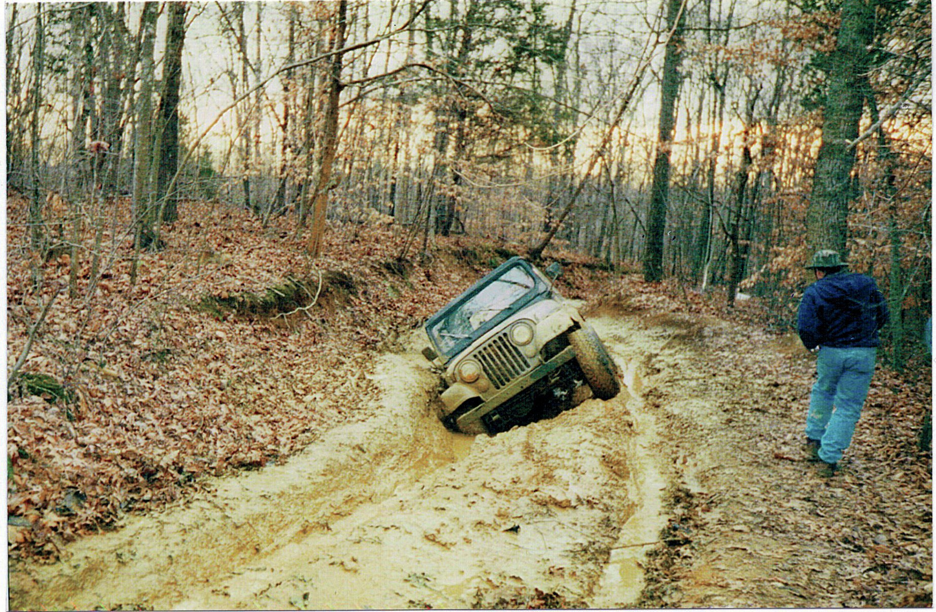 "Saving the Worst for Last Poor Freddy Woodward. This photo was taken in Burkesville, Kentucky. As he explained, ""I was the last one to go through, and it was pretty sloppy."" We'll say!"
