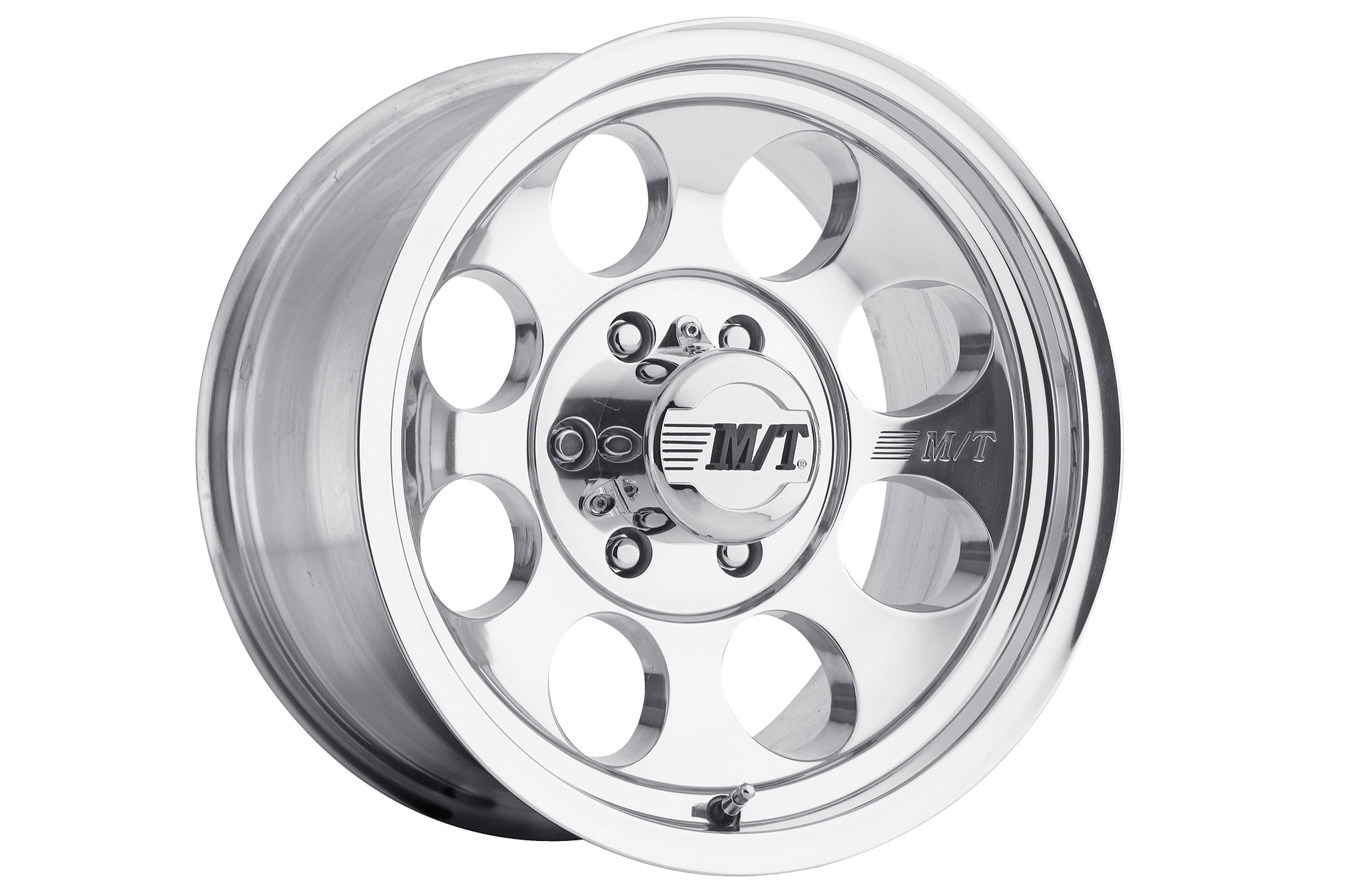 The Mickey Thompson Classic III is a cast-aluminum wheel that is available in a variety of sizes and bolt patterns. The maximum load of the Classic III is more a function of the bolt pattern than the wheel construction. The 5-lug Classic IIIs are rated at 1,900 pounds each, while 8-lug Classic IIIs are rated at 3,250 pounds each, with both using the same construction.