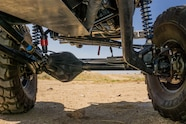 The front suspension uses a radius-arm design that provides