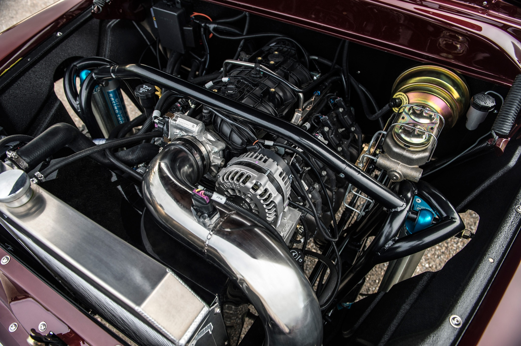 1957 chevrolet task force napco legacy classic trucks engine bay