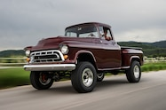 1957 chevrolet task force napco legacy classic trucks front three quarter