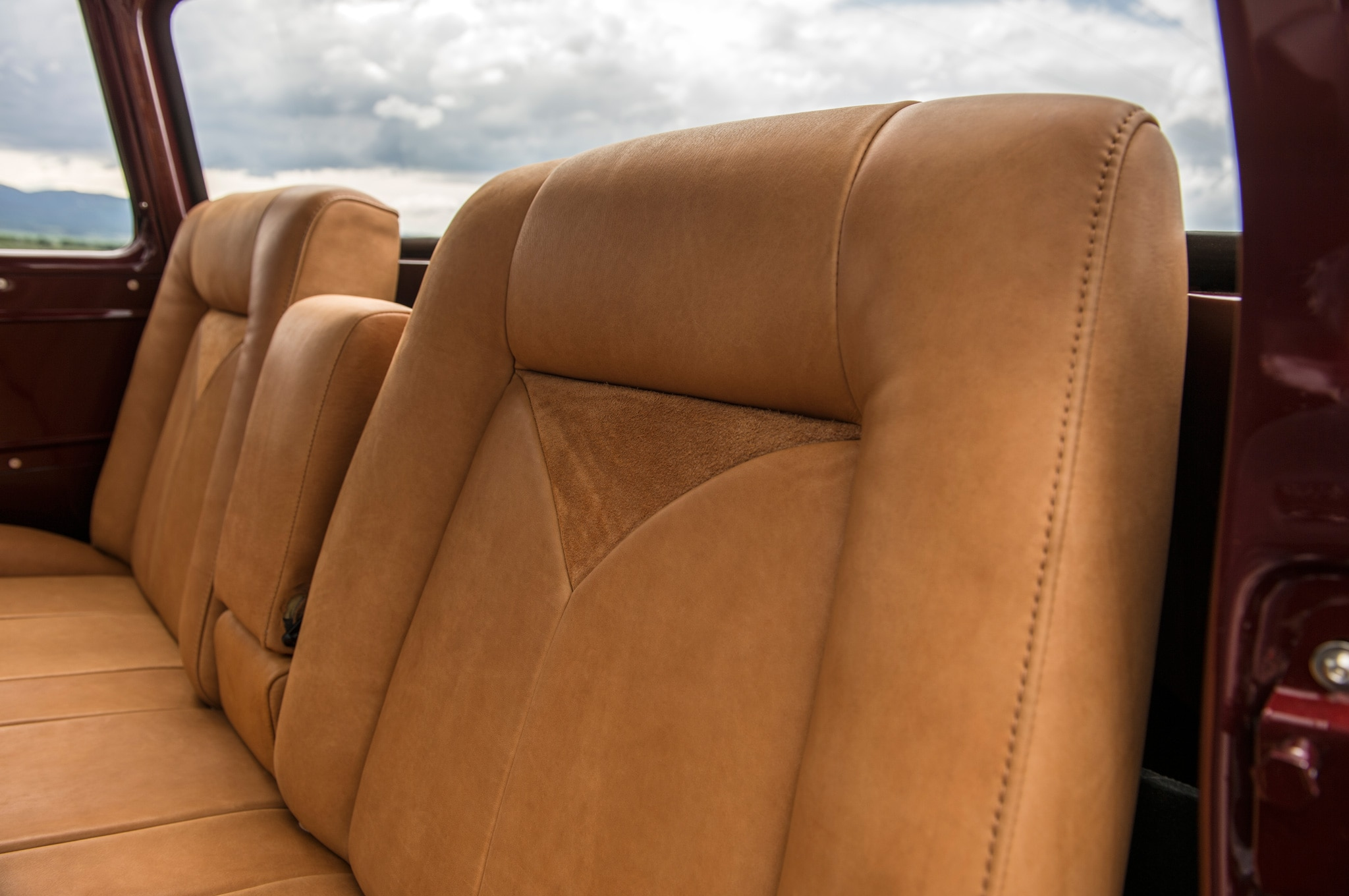 1957 chevrolet task force napco legacy classic trucks leather bench