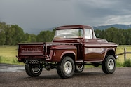 1957 chevrolet task force napco legacy classic trucks rear three quarter pasture