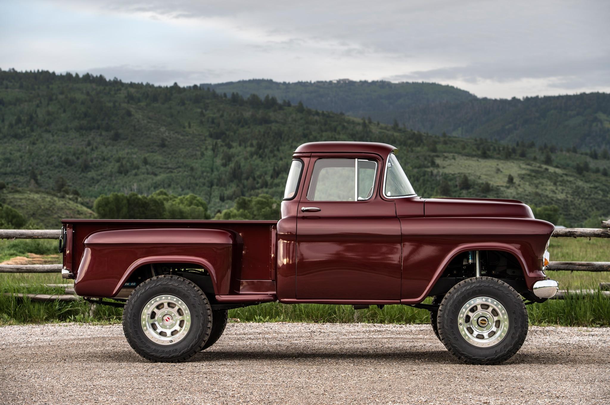1957 chevrolet task force napco legacy classic trucks side profile