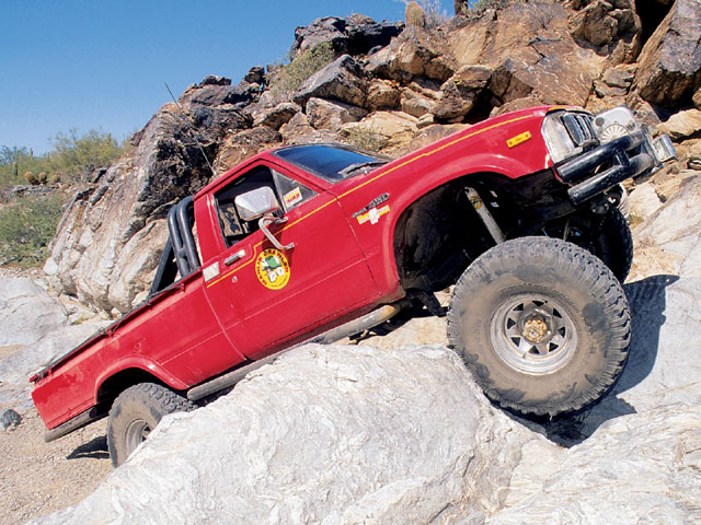 The earliest adopters of the Toyota truck often found themselves as lone Toys out on trails. Fortunately, Toyota built plenty of strength margin into the design and these trucks proved to be rugged and reliable trail vehicles. Typical upgrades were the swap up to 30- or 31-inch tires which the four-speed, four-banger drivetrain could handle decently.