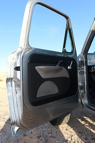 ford f200 interior door panel close up
