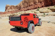 jeep wrangler red rock responder rear side view