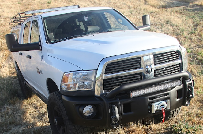 AEV Protects Your Ram Truck With a Winch Hiding Bumper