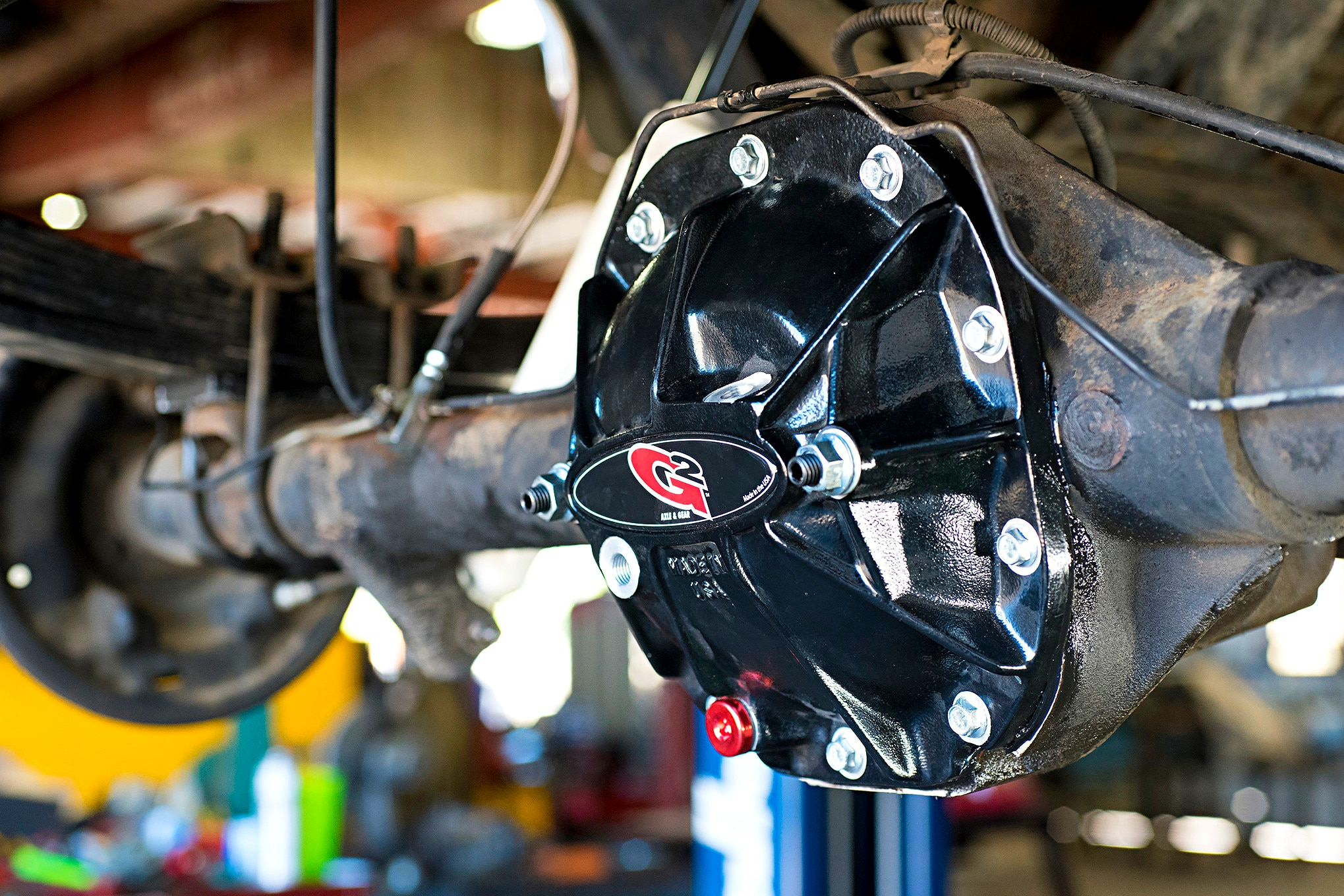 The rebuilt 8.8-inch rearend is lookin' good. It has the correct gearing and new parts to make it both durable and a good performance upgrade for our 5.0L Bronco.