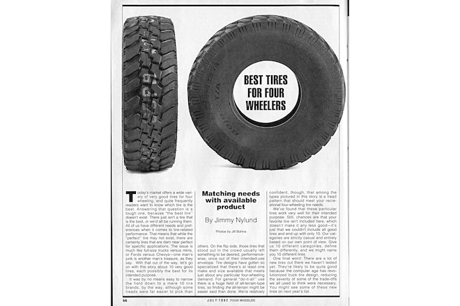 Trail's End: July 1992, 10 Best Tires For Four Wheelers
