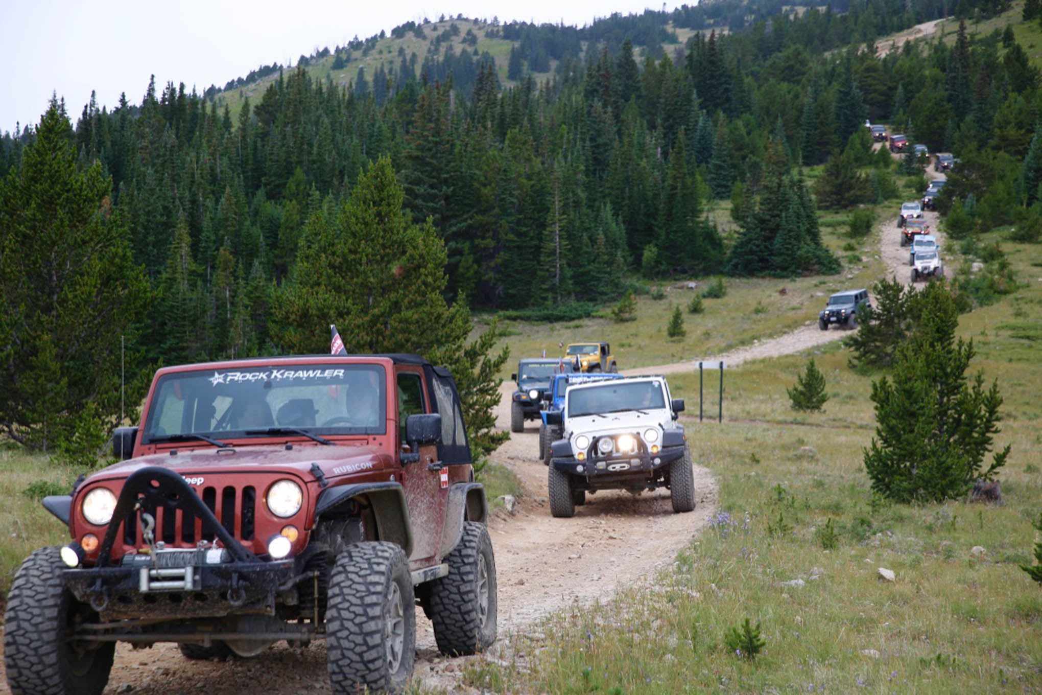 The Warn Anniversary Ride had a lineup of 20-plus rigs
