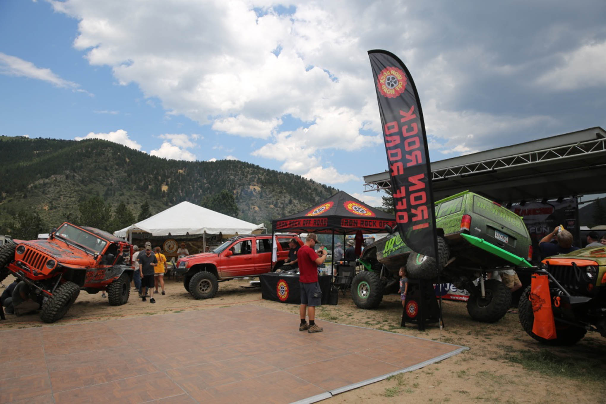 Iron Rock Off Road from Shakopee, Minnesota, was one of a multitude of players in the Jeep aftermarket scene that participated in the event.