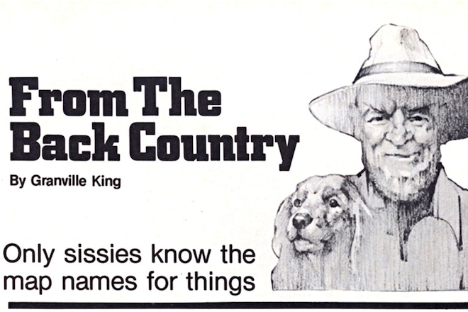 """Granville King's """"From The Back Country"""" March 1984"""