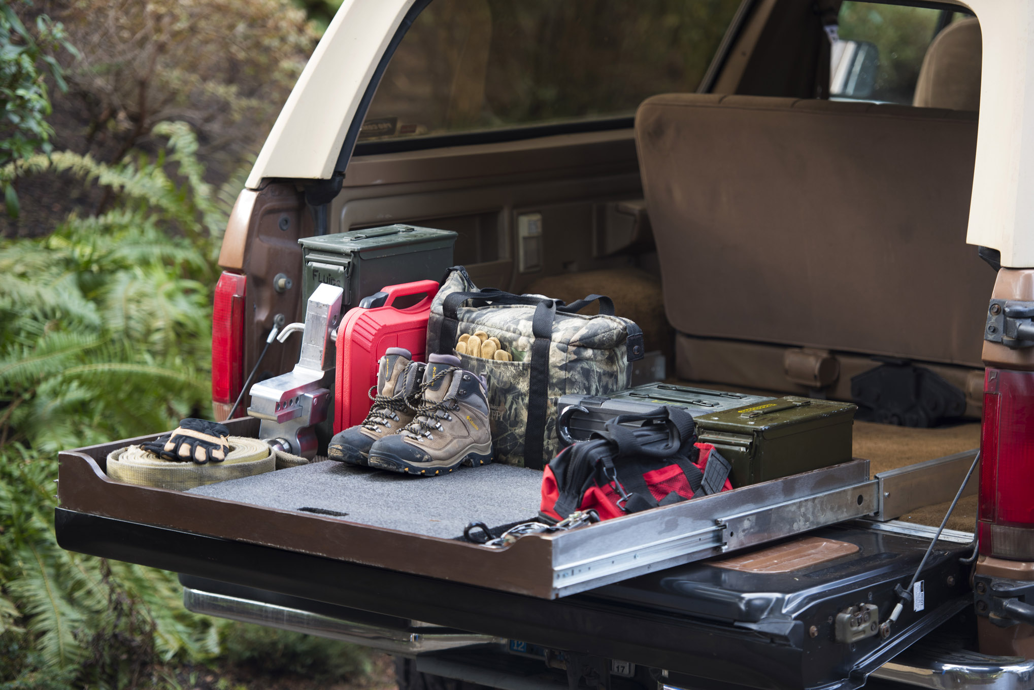 handy slider we build a diy sliding cargo storage tray for our 4x4 Jeep Storage Box Plans